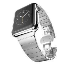 Series 4 Stainless Steel Bracelet for Apple Watch band Butterfly Buckle Metal Strap 38mm/42mm 40MM 44MM for iwatch Series 4 3 2