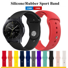 22MM 20MM Outdoor Sport Silicone Rubber Watch Band for Samsung Galaxy Watch 46mm 42mm Wrist Correa Amazfit Bip Watch Bracelet