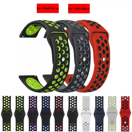 Soft Silicone Replacement Sport Strap Band for Fitbit Versa Lite /Fitbit Blaze /Fitbit Blaze Smart Watch Band (NO Metal Frame)