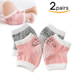 Kalevel 2 Pairs Baby Toddler Knee Pads Crawling Anti-Slip Knee Protector Unisex