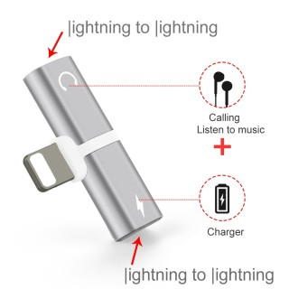 iPhone Charging & Lightning Audio Adapter