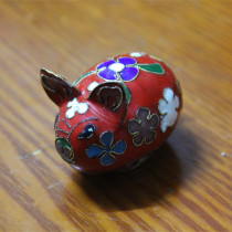 Old Beijing Cloisonne Little Pig