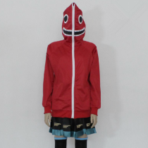 Hatsune Miku Black Gumi Pattern Red Cotton Hoodies Cosplay Costume