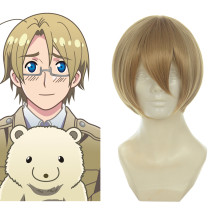 Rulercosplay Heat Resistant Fiber Inspired By Hetalia Canada Matthew Williams Short Yellow Anime Wig
