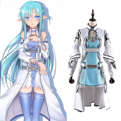 Rulercosplay Sword Art Online I (ALfheim Online) Yuuki Asuna Fighting Cosplay Costume Wholesaler Res
