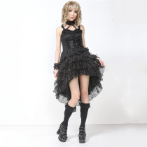 Knee-length Dress with Sling Backless Princess Chiffon Lolita Dress