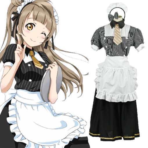 Rulercosplay LoveLive! Minami Kotori Cotton Multicolor Waitress Cosplay Costume Wholesaler Resaler
