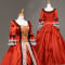 Medium Sleeves Floor-length Lace Red Princess Classic Lolita Dress