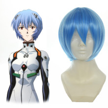 Rulercosplay Heat Resistant Fiber Inspired By Neon Genesis Evangelion  Rei Ayanami Short Blue Anime