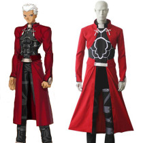 Rulercosplay Fate Stay Night Unlimited Blade Works UBW Archer Red Cosplay Costume Wholesaler Resaler
