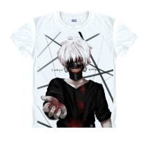 Tokyo Ghoul Fashion Animation White Smooth Decron T-shirt 043 More Patterns