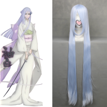 Rulercosplay Heat Resistant Fiber Inspired By Bleach Sode No Shirayuki Super Long Blue Anime Wigs Wh