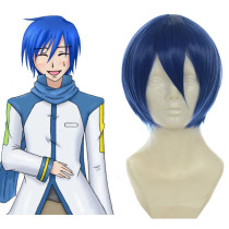Rulercosplay VOCALOID KAITO Dark Blue Heat Resistant Fiber Short Cosplay Anime Wigs Wholesaler Resal