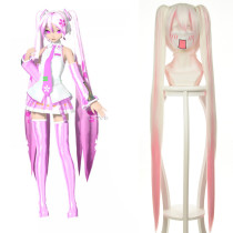 Rulercosplay Sakura Miku Vocaloid Pink Heat Resistant Fiber 120 cm Straight Long Cosplay Anime Wigs