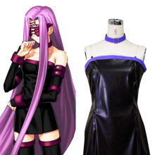 Rulercosplay Fate Stay Night Rider Black PU Cosplay Costume Wholesaler Resaler
