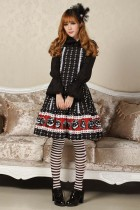Sleeveless Knee-length Black Princess Dress Sweet Lolita Dress Customize
