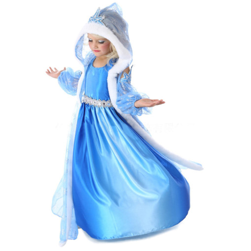 Movie Frozen Cosplay Costume Princess Elsa Children Cosplay Costumes