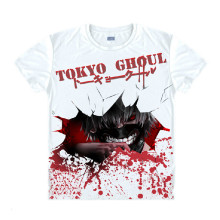 Tokyo Ghoul Fashion Animation White Smooth Decron T-shirt 042 More Patterns