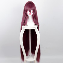 Ruler Cosplay Fate/Zero Scathach Dark Purple Long Straight Hair Anime Cosplay Wigs
