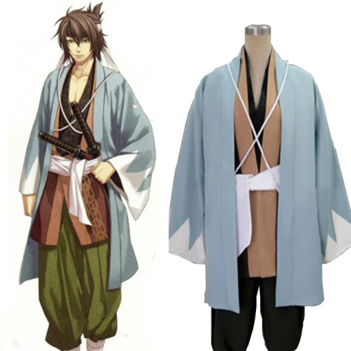 Rulercosplay Hakuouki Soji Okita Blue Cosplay Costume Wholesaler Resaler