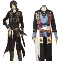 Rulercosplay Hakuouki Shinsengumi Kitan Hijikata Toshizo Black Cosplay Costume Wholesaler Resaler