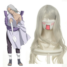 Rulercosplay Heat Resistant Fiber Inspired By Naruto Kimimaro Long Curly Silver Anime Wigs Wholesale