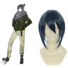 Rulercosplay NO.6 Nezumi Short Dark Blue Heat Resistant Fiber Anime Cosplay Wigs Wholesaler Resaler