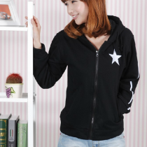 Black Rock Shooter Hatsune Miku Pattern Black Cotton Hoodies Cosplay Costume