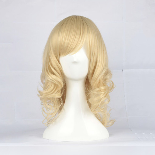 Rulercosplay Classic & Traditional Lolita Heat Resistant Fiber 43cm Medium Golden Lolita Wigs Wholes