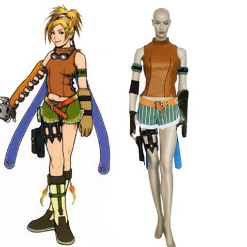 Rulercosplay Final Fantasy X Rikku Brown Cosplay Costume Wholesaler Resaler