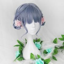 Rulercosplay Sweet Harajuku Original Cyan And Light Purple BoBo Mixed Ombre Lolita Wigs