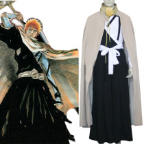Rulercosplay Gray Uniform Cloth Bleach Kurosaki Lchigo Execution Ground Cosplay Costume Wholesaler R