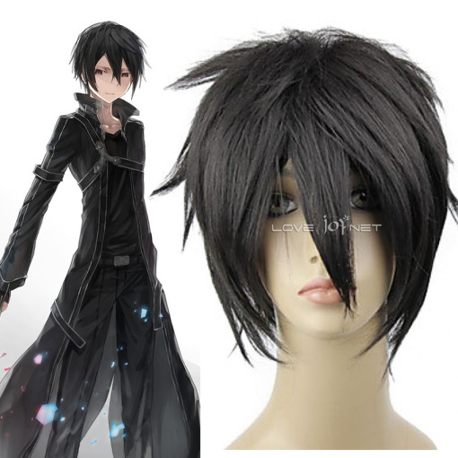 Rulercosplay Sword Art Online Kirigaya Kazuto Short Black Cosplay Anime Wigs Wholesaler Resaler