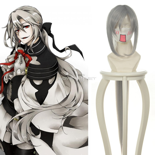 Rulercosplay Seraph Of The End Ferid Bathory Long Straight Gray Heat Resistant Fiber Cosplay Anime W