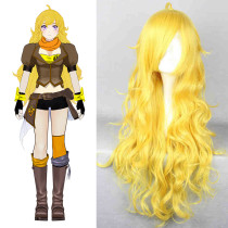 Rulercosplay Heat Resistant Fiber Inspired By RWBY Yang Xiao Long Long Curly Yellow Anime Wigs Whole