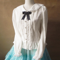Sweet Lolita Chiffon White Blouse