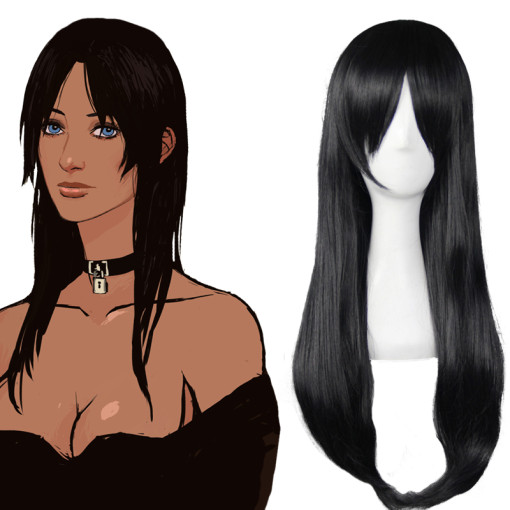 Rulercosplay GANGSTA Alex Benedetto Black Long Heat Resistant Fiber Cospaly Anime Wigs Wholesaler Re