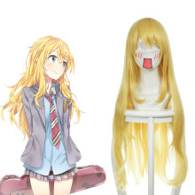 Rulercosplay Your Lie In April Miyazono Kaori Long Striaght Yellow Heat Resistant Fiber Cosplay Anim