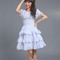 Knee-length Dress with Short Sleeve Sweet Idyllic Lolita Dress