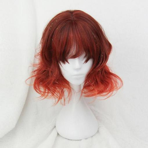 Rulercosplay Sweet Harajuku Original Red BoBo Mixed Lolita Wigs