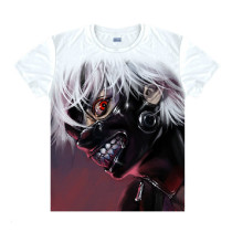 Tokyo Ghoul Fashion Animation White Smooth Decron T-shirt 015 More Patterns