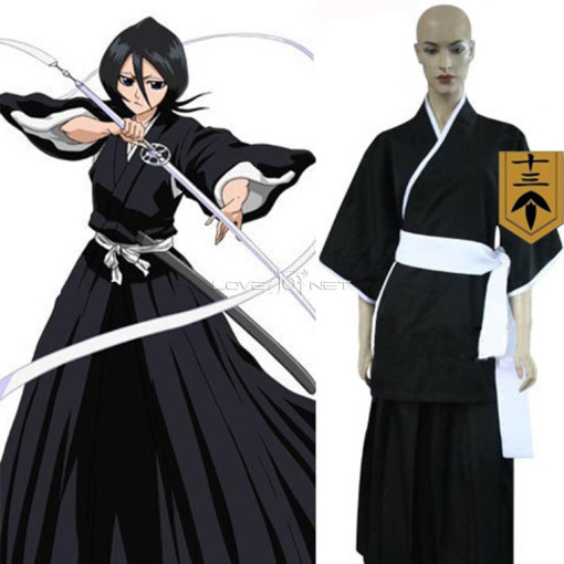 Rulercosplay Bleach 13th Division Lieutenant Kuchiki Rukia Black Cosplay Costume Anime Products Whol