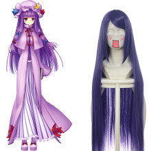 Rulercosplay Touhou Project Patchouli Knowledge Long Dark Purple Anime Cosplay Wigs Wholesaler Resal