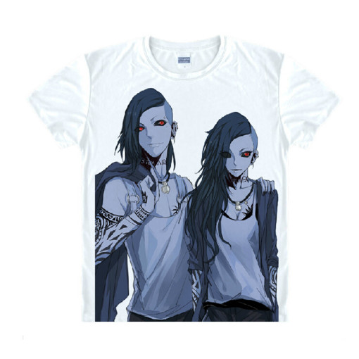 Tokyo Ghoul Fashion Animation White Smooth Decron T-shirt 029 More Patterns