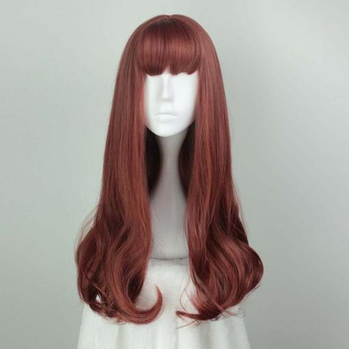 Rulercoslpay Sweet Harajuku Original Air Bang Wine Red And Brown Mixed Ombre Lolita Wigs