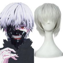 Rulercosplay Tokyo Ghoul Kaneki Ken Heat Resistant Fiber White Short Cosplay Anime Wigs Wholesaler R