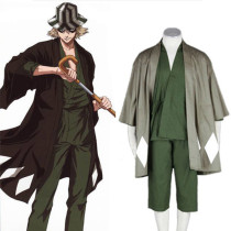 Rulercosplay Bleach Urahara Kisuke Green Uniform Cloth Cosplay Costume Wholesaler Resaler