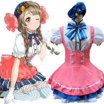 Rulercosplay LoveLive! Minami Kotori Pink Uniform Cloth Cosplay Costume Wholesaler Resaler