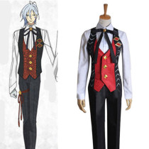 Rulercosplay AMNESIA Ikki Working Uniform Red Cosplay Costume Wholesaler Resaler