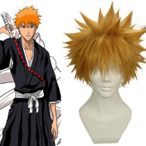 Rulercosplay Bleach Kurosaki Ichigo Orange Heat Resistant Fiber Short Cosplay Anime Wigs Wholesaler